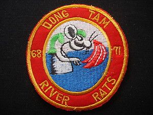 US Navy RIVER RATS At DONG TAM Base Camp 68 71 Vietnam War Patch