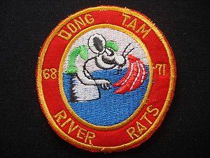 US Navy RIVER RATS At DONG TAM Base Camp 68 71 Vietnam War Patch