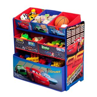 New Disney Pixar Cars Kids Childrens Book and Toy Multi Organizer Box