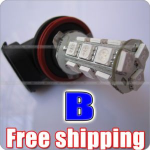 Blue H11 H8 18 5050 3 Chip SMD LED Car Fog Light Bulb