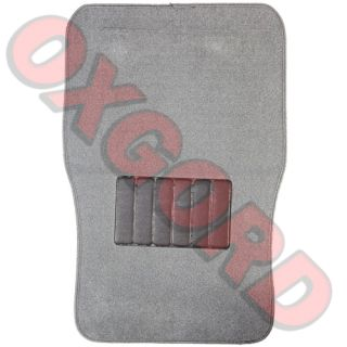 Ash Smoke Gray Carpet Mat 4 PC Pads Liner Car Floor Mats XL