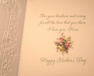 Carol Wilson Mothers Day Greeting Card, Pastel Roses CG1449