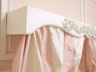 Shabby Cottage Chic Rose White Curtain Canopy Box Bed