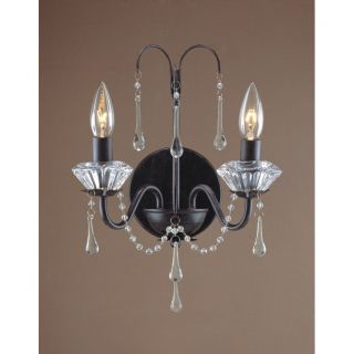 NEW 2 Light Candle Wall Sconce Lighting Fixture, Oil Burnished Bronze