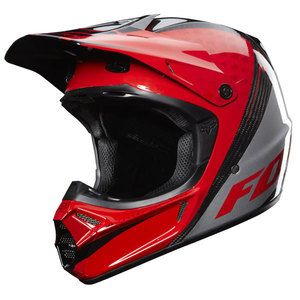 Fox V 3 V3 Carbon Fiber Helmet Chad Reed Black Red Silver Adult Size