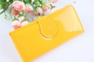 Candy Color Bright Skin Fashion Women Girls Wallet Purse Clutch Card
