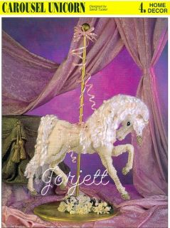 Carousel Unicorn, Annies plastic canvas pattern