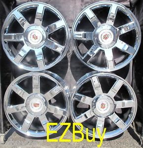ESCALADE FACTORY NEW CHROME WHEELS RIMS 5309 WITH FACTORY CENTER CAPS