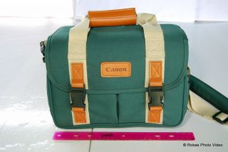 Genuine Canon Camera Photo Case Shoulder Bag Green