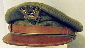 WWII US Army Air Force Officer Pilots Uniform Visor Crusher Crush Hat