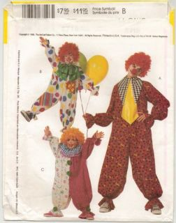 Adult Clown Jester Harlequin Halloween Costume Pattern S34 36