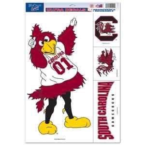 South Carolina Gamecocks Mascot Cornhole Boards 11x17 Ultra Decals