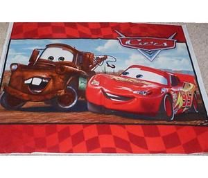 Disney Cars Lightning McQueen Mater Quilt Panel Fabric