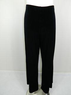 CARLA ZAMPATTI womens black velvet pants sz L or 14 *Made in