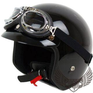 Carbon Fiber Vintage Style Chopper Old School Dot Motorcycle Helmet
