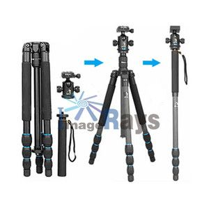 Professional Carbon Fiber Tripod With Monopod Ball Head For Camera