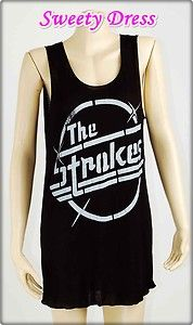 The Strokes Julian Casablancas T Shirt Women Mini Music Dress Sz s M