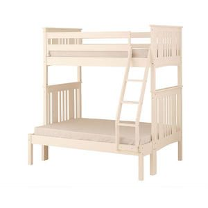 Canwood Base Camp Twin Over Full Bunk Bed with Ladder Guard Rail White