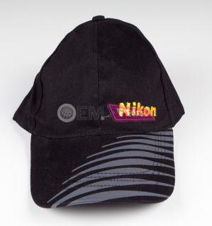 Authentic Nikon Baseball Cap Hat Black D5100 D700 Body D3200 D800 Kit
