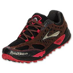 New Brooks Cascadia Womens Running Trail Shoes Black w Brown Red Sz 7