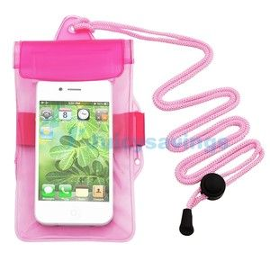 Waterproof Case Armband Holder For Apple iPod Touch 3rd Gen 3G Pink