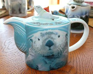 Paul Cardew Endangered Species Teapot 2 Cup Sea Otter