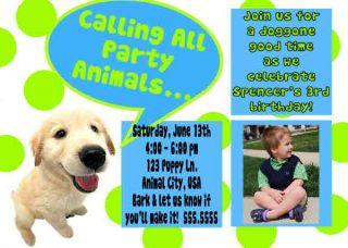 The Dog Boy Girl Photo Birthday Invitation