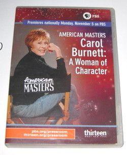 CAROL BURNETT A WOMAN OF CHARACTER, RARE 07 DVD   PBS