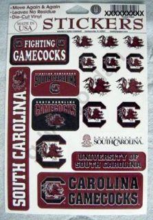 18 South Carolina Gamecocks Team Vinyl Decal Stickers