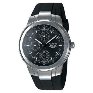 Casio Edifice Chronograph Multifunction Black Mens Wrist Watches EF305