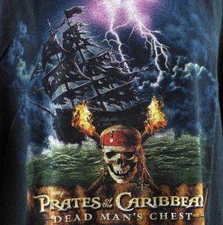 Pirates of The Caribbean Dead Mans Chest Mens T Shirt 3XL XXXL Black