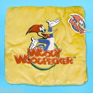 Pillow Woody Woodpecker Lantz Embroidered Cartoon Character