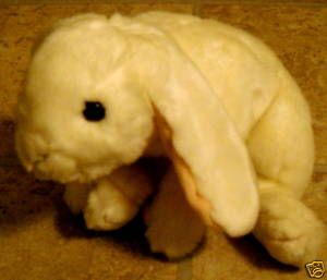 Animal Alley Plush White Floppy Ear Bunny Rabbit Easter