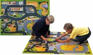 Carville Toy Car Playmat Play Mat Size 36 x 52 Felt Mat for Toy Cars
