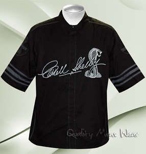 Carroll Shelby Signature Black Pit Crew Shirt Small $99
