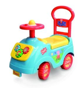 Peppa Pig Childrens Sit N Ride Push Buggy Car Van Toys
