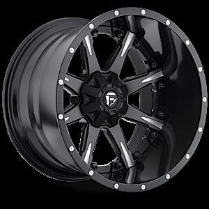 Offroad 2 PC Nutz Black Milled Rims Truck Wheels Falken Tires
