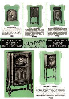 Vintage 1931 Majestic Radio Consoles Table Model Old Brochure