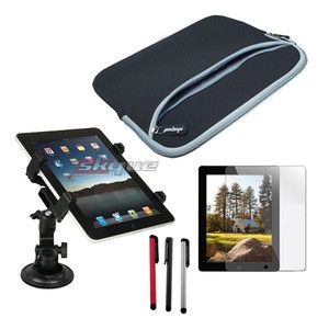 item sleeve case car mount holder screen protector for apple ipad 2