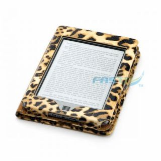 Leopard PU Leather Case Cover for  Kindle Touch WiFi or 3G with