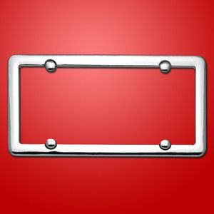 Chrome License Plate Frame Car Tag Holder Bracket Cover Blank Plain