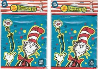 Dr Seuss Cat in The Hat Loot Birthday Party Goody Bags