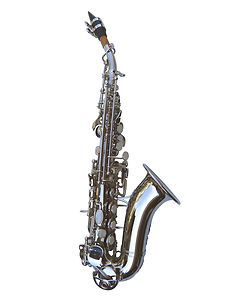 New Silver Curved Soprano Saxophone Sax w Case Quality Warranty
