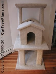 Cat tree plans make 6 furniture condo plan instruction for Do it yourself cat tower