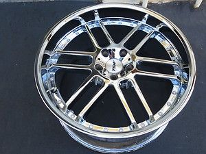 One 20 chrome TSW catalunya wheel rim Mercedes Audi 5X112 10X20 ET35