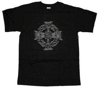 Stone Cross Irish Celtic Knot T Shirt Tee