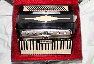 Vintage Accordion Castiglione 408 with Case Made in Italy