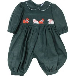 NWT Gorgeous Green Smocked w/Scotties Carriage Boutique Baby Girl