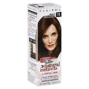 Clairol Loving Care Hair Color Crème Lotion 78 Medium Golden Brown (3