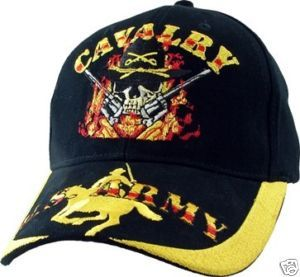 Army Cavalry Military Color Embroidered Hat Cap